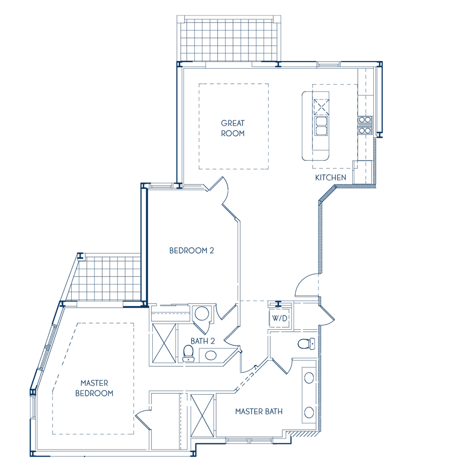 Club Penthouse Two Bedroom Floor Plan