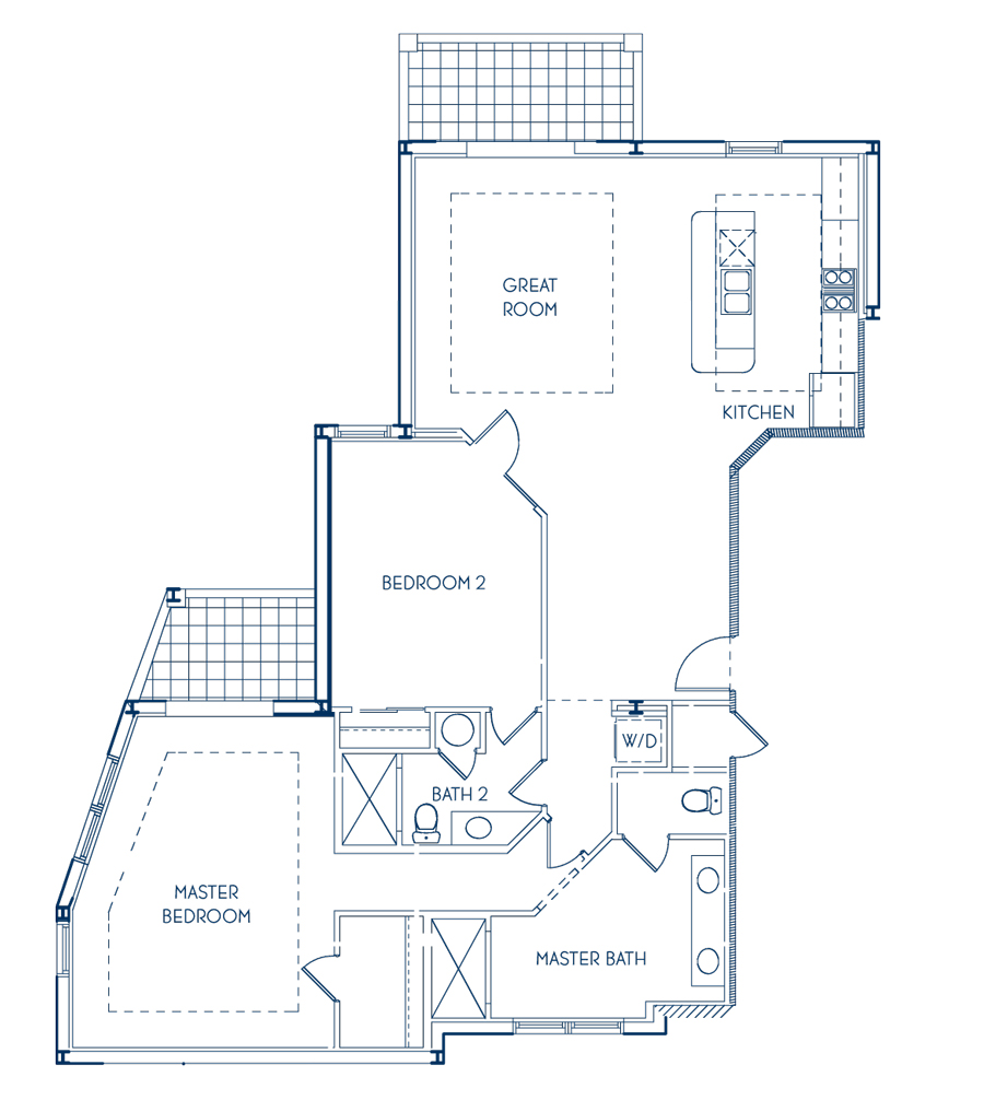 Club Two Bedroom Floor Plan