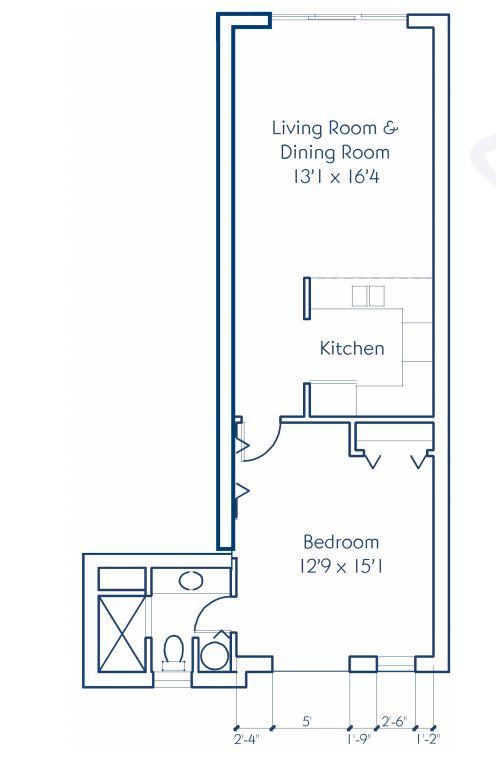 One Bedroom Master Suite Floor Plan
