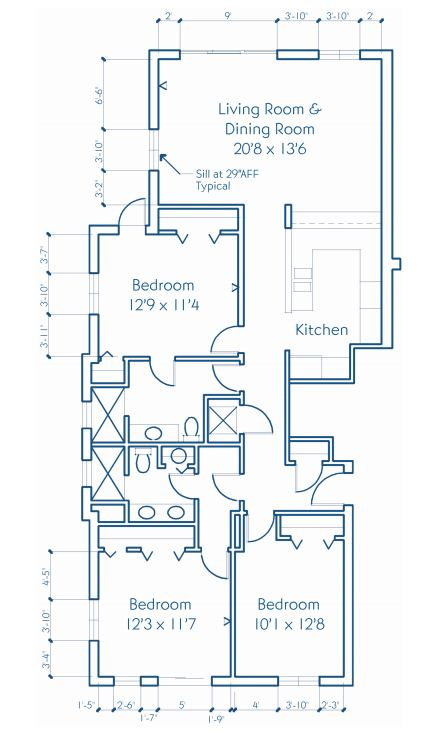Three Bedroom Suite Floor Plan