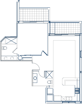 Club One Bedroom Floor Plan